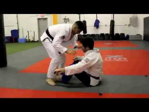 BJJ / MMA Techniques | Pass | Passing Open Guard from Stand Up Image 1