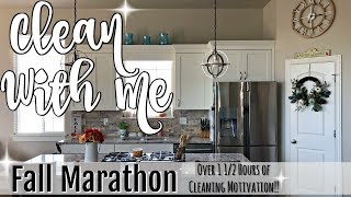 CLEAN WITH ME MARATHON :: OVER 1 1/2 HOURS OF INSANE CLEANING MOTIVATION :: FALL CLEANING VIDEOS