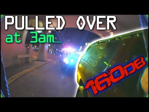 Pulled Over at 3am... Police Reaction To Blake Hunt's 12 15's on 40,000 watts | EXO SBN 26 - 2012