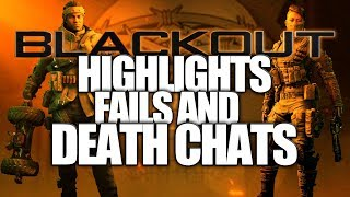 "Call of Duty ""Blackout Highlights"", Fails And Death Chats (Call of Duty Black Ops 4 Blackout)"