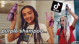 testing viral tik tok life hacks! (purple shampoo, teeth whitening)