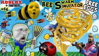 ROBLOX BEE SWARM SIMULATOR FREE EGGS from FORTNITE! (FGTEEV Honey Tornado #46)