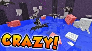 BATTLING EVERY MINECRAFT MOB AT THE SAME TIME!