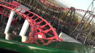 Viper Front Row POV Six Flags Magic Mountain