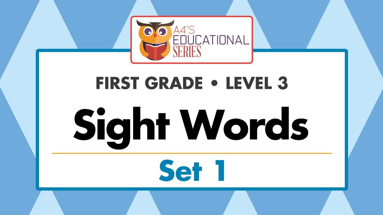Sight Words First Grade Set 1 Youtube