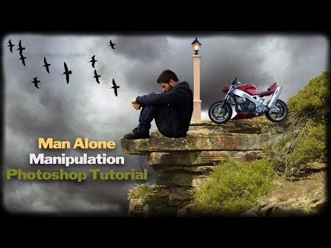 Rest in Nature Photo Man Alone Manipulation Photoshop Tutorial