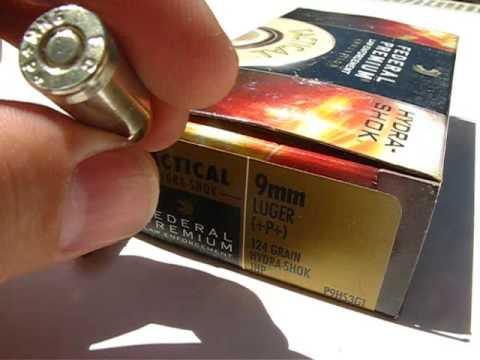AT2 - 9mm Luger - Federal Hydra-Shok 124 Gr +P+ JHP