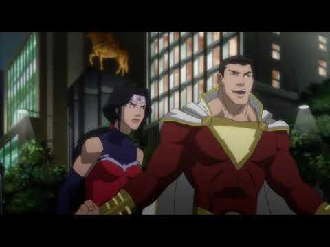 Лига справедливости: Война (2014) Сражение с Дарксайдом / Первый бой