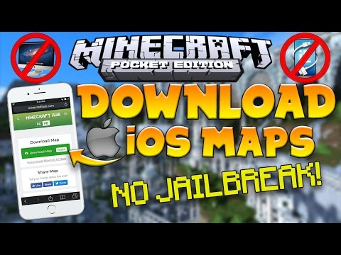 How to INSTALL MAPS/ADDONS on iOS!   No Jailbreak   No Computer   MCPE 1.0.8