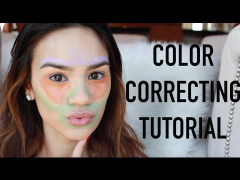 Color Correcting Tutorial   How To Cover Dark Circles. Redness. Acne Scars