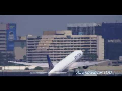 United Airlines Boeing 777-200ER Takeoff LAX RWY 7L