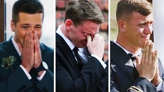 Emotional Grooms Cry When They See Their Lovely Brides