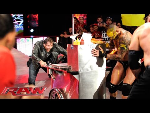 John Cena Vs. Seth Rollins, Randy Orton & Kane – 3-on-1 Handicap Match: Raw, Oct. 6, 2014 video