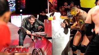 WWE ගුටි බැට හුවමාරුව ....John Cena vs. Seth Rollins, Randy Orton & Kane