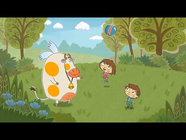 Малыши и Летающие звери - Мячик (развивающий мультик 8)