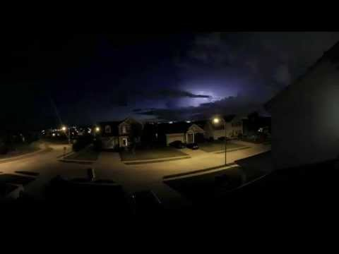 Papillion, NE Thunderstorm Time Lapse