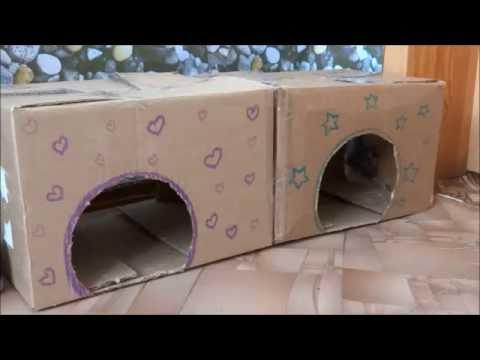 Домики из коробки своими руками фото
