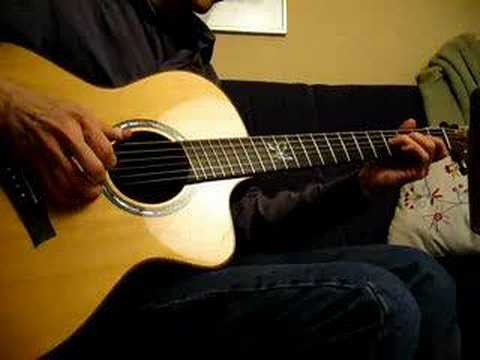 Acoustic fanned fret guitar test