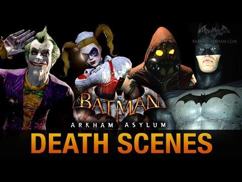 Batman: Return to Arkham Asylum - All Game Over Death Scenes