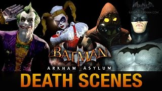Batman: Return to Arkham Asylum - All Game Over Death Scenes