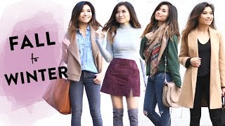 Fall to Winter Lookbook   2016 Fall to Winter Outfit Ideas   Transitional Fashion   Miss Louie