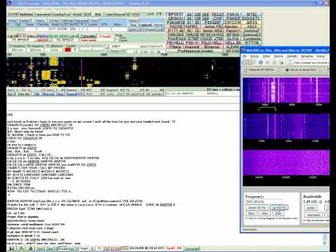 BPSK, RTTY morse decoded on Multipsk demo