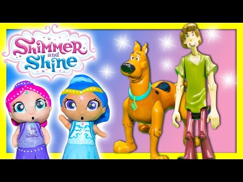 SHIMMER AND SHINE + SCOOBY DOO! Niceklodeon Shimmer and Shine Dolls Grant Funny Wishes Toys Video