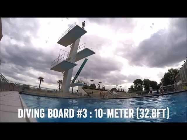 The Apple Watch off a 10m/32ft high dive platform!