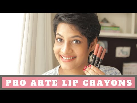 Pro Arte Velour Lip Crayons - All 10 shades - Review & Swatches