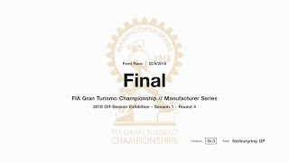 Gran Turismo™SPORT FIA GT Manufacturer Series Off-Season Exhibition Season 1 Round 4 Onboard
