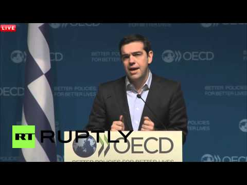 France: Greek PM Tsipras hopes OECD helps build