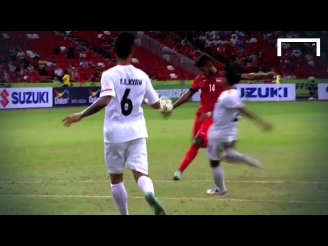 Wonderful goal by Singapore's Hariss Harun