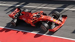 F1 2019 Testing Raw Pure Sound - Ferrari SF90 2019 Car Highlights from Circuit de Catalunya!
