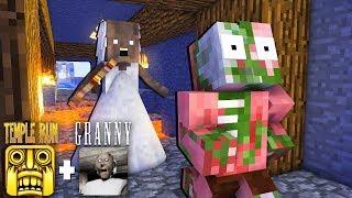 Monster School : TEMPLE RUN GAME & GRANNY HORROR - Minecraft Animation