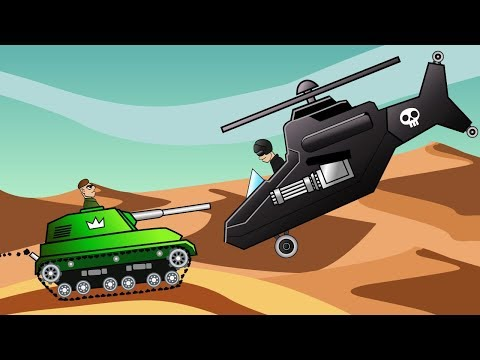 ТАНК против ВЕРТОЛЕТА Танковое сражение БИТВА в ПУСТЫНЕ Мультик для ДЕТЕЙ Танчики hills of steel