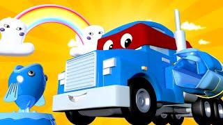 Super Kamion Carl u Auto Gradu 🚚 ⍟  Ljetni Specijal - Kamion Prskalica - Crtići sa autima