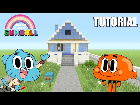 "Minecraft Tutorial: How To Make ""Gumball's"" House!! ""The Amazing World Of Gumball"" (Survival House)"