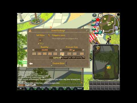 Runescape Item Flipping with L2Flip Episode 39. Pore Gold 1m/hr Commentary (HD)