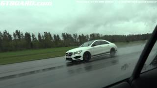 Mercedes CLA45 AMG Edition 1 vs Audi R8 V8 6-speed manual