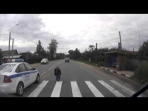 Наезд на пешехода полицейской машиной