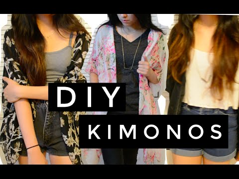 Minute tutorial diy kimono 3 easy ways youtube