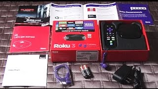 01.Roku 3 Streaming Media Player- Step By Step Installation
