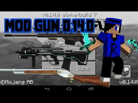 วิธีลงมอดปืน Minecraft Pe 0.14.0  - รีวิว