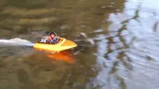 RC ADVENTURES- NQD 757 jet boat first run