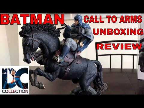 Batman The Dark Knight. A Call To Arms Statue. Review and unboxing. DC Collectibles.