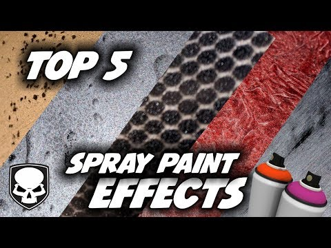Top 5 Spray Paint Effects - 2018 - super easy tricks