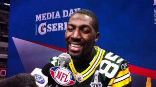 Greg Jennings Responds to His Madden Video at Super Bowl Media Day