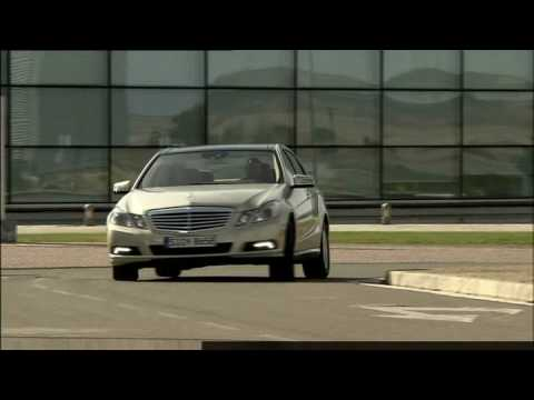 Driving new Mercedes-Benz E-Class E350 CDI 2010