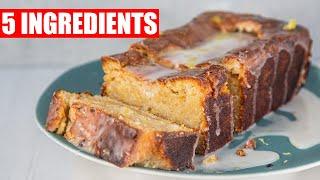 5 INGREDIENT LEMON DRIZZLE CAKE | VEGAN LOCK DOWN DESSERTS