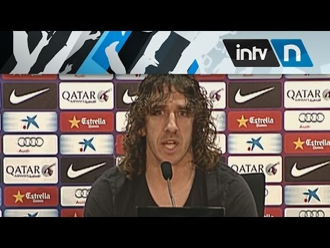 CARLES PUYOL, ANUNCIA QUE SE RETIRA - FC BARCELONA (04/03/2014)